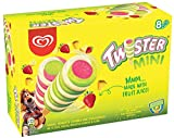 Twister Pineapple, Lemon-Lime, and Strawberry Mini Ice Cream Lolly, 8 x 50 ml