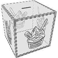 Preisvergleich für Azeeda Groß 'Eis' Klar Sparbüchse / Spardose (MB00064660)