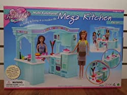 Barbie Size Dollhouse Furniture - Multifunction Mega Kitchen