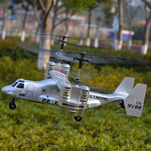 Zgifts Remote Control Helicopter 4.5 Channel American Bomber Model-Hobby RC Radio Plane Toys Crash Resistance for Indoor Outdoor Children Kids Kids Christmas, Silver