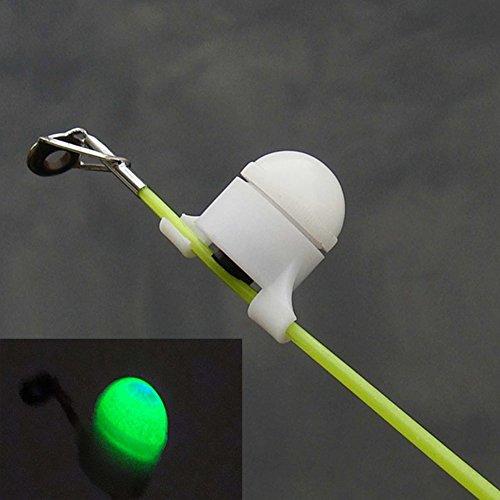 UxradG Angeln Bissanzeiger Glocke Indikator, Nacht Blinkende Wasserdicht LED Signal Sound Angel Fisch, Bite Köder Alarm für Angel, Wie Abgebildet