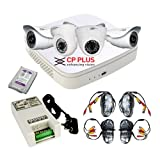 #5: Cpplus Intelli Eye Full HD cctv camera kit 2qty 2mp dome + 2qty 2mp bullet camera+1TB hard disk+ power supply + 4qty 18meters cable with connectors + 4qty DC pins