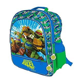Tortugas Ninja–Mochila grande 4cremalleras adaptable Trolley 41cm tortugas Ninja Mutants Rule.