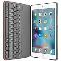 Etui de protection en toile Logitech avec clavier français Bluetooth intégré pour iPad Air 2 - Rouge