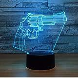 Die besten NEW Freund Guns - Nachtlicht New Revolver Gun 3D Lampe 7 Farben Bewertungen
