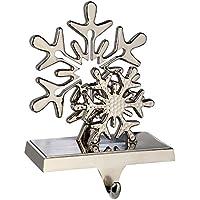 WeRChristmas Silver Plated Snowflake Stocking Holder Christmas Decoration, 17 cm, Metal