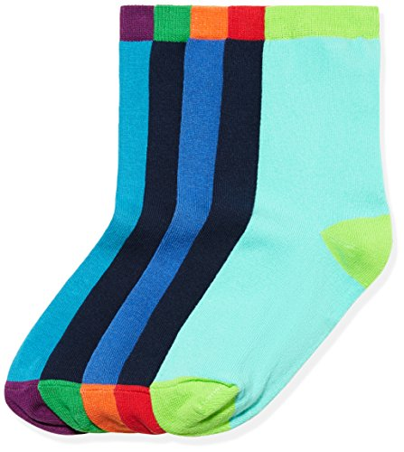 RED WAGON Jungen Mehrfarbige Socken 5er Pack, Mehrfarbig (Multi Coloured), 23-26.5 (Kleine Multi Kinder Bekleidung)