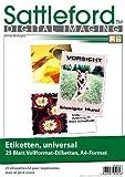 Sattleford Drucker Etiketten: 25 Etiketten A4 210x297 mm für Laser/Inkjet (Aufkleber)