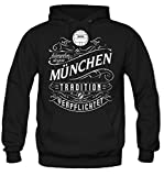 Mein leben München Kapuzenpullover | Freizeit | Hobby | Sport | Sprüche | Fussball | Stadt | Männer | Herren | Fan | M1 Front (M)