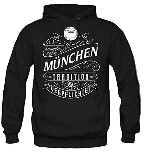 Mein leben München Kapuzenpullover   Freizeit   Hobby   Sport   Sprüche   Fussball   Stadt   Männer   Herren   Fan   M1 Front (XXL)