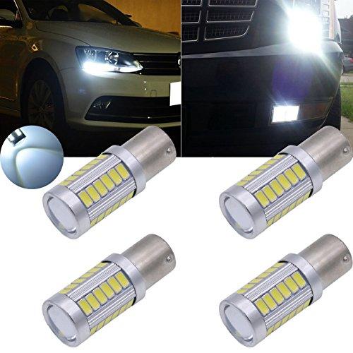 tuincyn 1156BA15S Blanco 563033SMD LED bombillas 8000K 900lúmenes 11417056. Brillante Freno Stop Luz De Estacionamiento, intermitentes bombilla, marcadores de side lamp DC 12V 3.6W (Pack de 2)