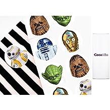10x Coco & Bo–Star Wars Heroes pegatinas–Ideal para obsequios de fiesta, bolsas de fiesta o invitaciones. BB8R2D2y C3PO Yoda y decoraciones de fiesta temática de Chewbacca y accesorios de tarta