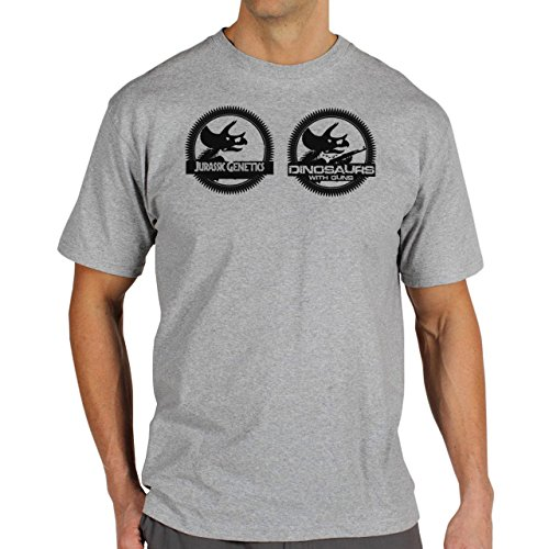 Jurassic-Genetics-Park-Background.jpg Herren T-Shirt Grau
