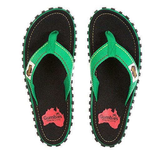 Gumbies Damen Zehentrenner - Rosa/Blau Schuhe in Übergrößen Rasta