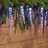 Innenräume Draußen Lichterketten Led Streifen Weihnachts Innenbe Außenbe Lauflichter Lichtschläuche Garten-Fackeln Spezial Stimmungsbeleuchtung LED-Lichterketten 8 Meter, 40 blau, mit Eiszapfen, grünes Kabel, Weihnachtsbeleuchtung, Weihnachtsschmuck, Weihnachtsketten