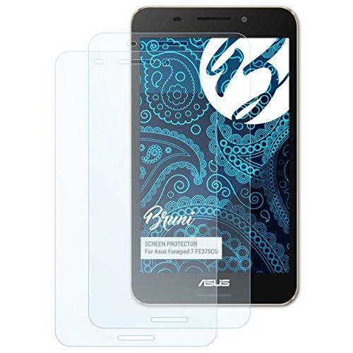 Bruni Schutzfolie kompatibel mit Asus Fonepad 7 FE375CG Folie, glasklare Bildschirmschutzfolie (2X)