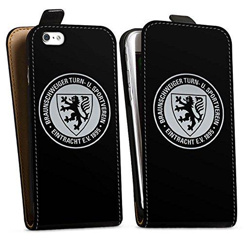 Apple iPhone 7 Hülle Case Handyhülle Eintracht Braunschweig Fanartikel BTSV Fußball Downflip Tasche schwarz