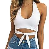 JUTOO Damen Sexy Sport Tops Weste Ärmelloses T-Shirt(Weiß,EU:36/CN:S)