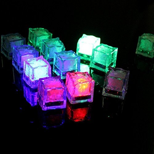 IDEAPRO ?12 pcs??Party Decorative LED Ice Cubes Light Multi-Color Liquid Sensor Ice Cubes Light LED Glow Light Drinking Wine Wedding Party Decoration by IDEAPRO -