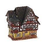 Wunderschönes Keramik- Lichthaus - HandArt - Motiv: Fachwerkhaus in der
