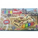 TrAdE shop Traesio® CARRO ARMATO CON LED LUCI SUONI FUNZIONE MISTERO ARMA TIGER GIOCO BAMBINI BIMBO