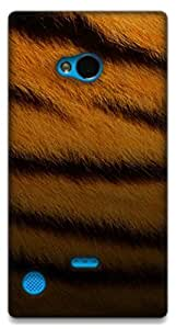 The Racoon Grip TIGER SKIN hard plastic printed back case / cover for Nokia Lumia 720
