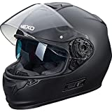 Nexo Integral-Helm Motorrad Voll-Visier-Helm Integralhelm Fiberglas Tour Comfort mattschwarz L