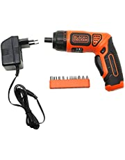 BLACK+DECKER BDCS36F 3.6V Li-Ion Cordless Screw Driver Kit with LED Guiding Light (10-Bits), Orange