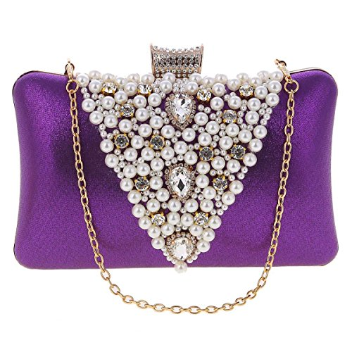 Damara® Ladies Glitter Borsette Rigide Con Pochette Fashion Gold