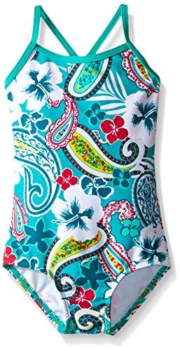 Kanu Surf Baby Girls' Summer Dream One Piece Swim Suit, Green, 12 Months