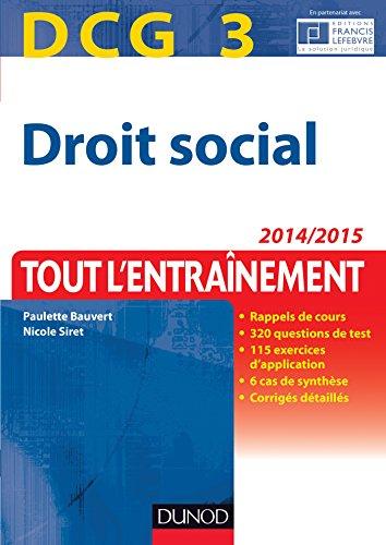 DCG 3 - Droit social 2014/2015 - 7e d - Tout l'Entranement