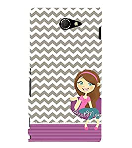 Best Ever Mom Maa 3D Hard Polycarbonate Designer Back Case Cover for Sony Xperia M2 Dual D2302 :: Sony Xperia M2