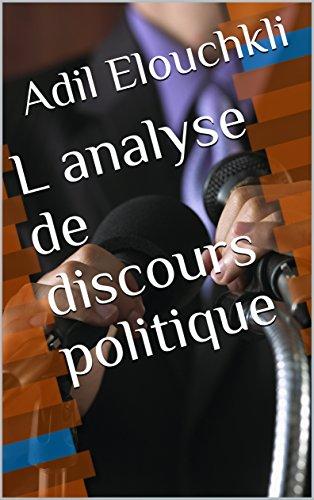 Couverture du livre L analyse de discours politique