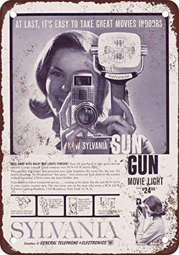 metalsigns 1960 Sylvania Sun Gun Film Light Vintage Look Reproduktion Metall Blechschild 30,5 x 45,7 cm Sun Gun Light