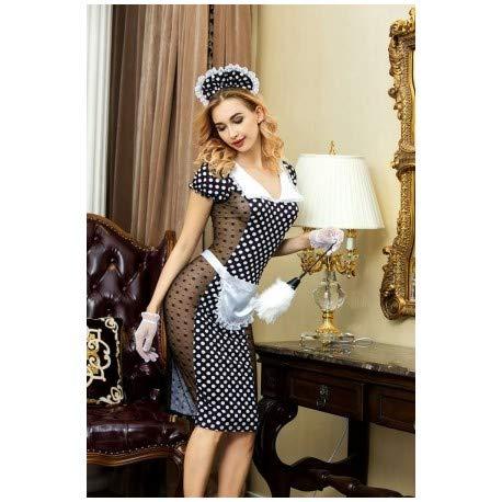 Paris Hollywood Kostüm Sexy Hausmädchen Werkstattwagen mit Zubehör ()