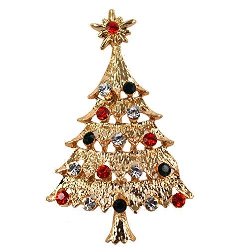 sche für Kleidung Diamanten Weihnachtsbaum Mann Dekoration Damen Party Kleid Pin Modeschmuck Legierung Schmuck Zubehör ()