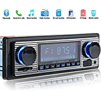 REFURBISHHOUSE Reproductor de MP3 Bluetooth Radio Vintage para Coche Audio Estereo de USB AUX Classic para