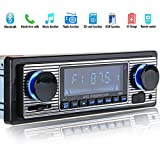 REFURBISHHOUSE Autoradio Bluetooth MP3 Player Vintage Stereo USB Stereo AUX Classic Car Audio