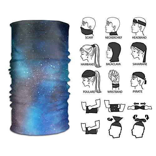 Wfispiy Glitter Galaxy Aquarell vielseitige Kopfbedeckung Stirnband Nackenschutz Bandana Sturmhaube -