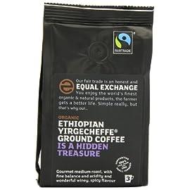 Equal Exchange Ethiopian Yirgacheffe Ground Organic Coffee 227 g (Pack of 2)