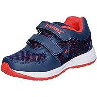 DAYZ Boy's Blue Running Shoes-2 UK (34 EU) (KSJ-30-Blue-Red_2)