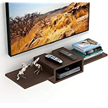 Bluewud Aero TV Entertainment Unit/Wall Set Top Box Stand Shelf (Wenge)