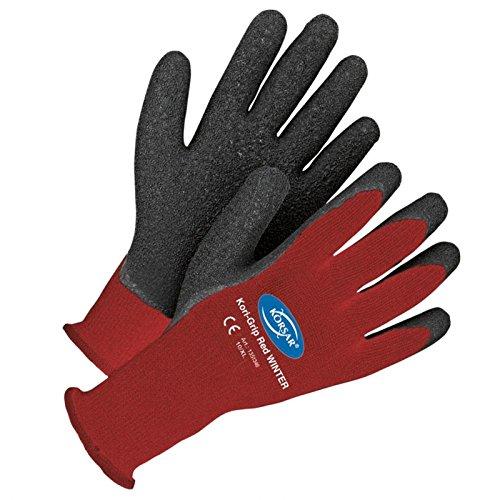 Lagerhandschuh Handschuh Winterhandschuh Kori-Grip Winter rot-schwarz - Größe 9