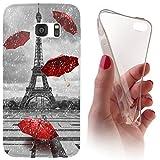 Samsung S3 / S3 Neo Softcase Hülle Cover Backkover Softcase TPU Hülle Slim Case für Samsung Galaxy S3 / S3 neo (1107 Eifelturm Paris Frankreich Rot Grau)