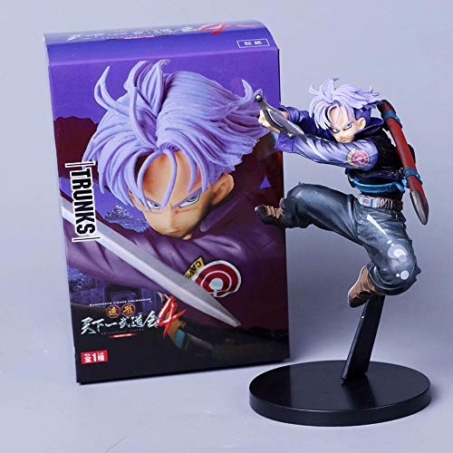 Dragon Ball Z Trunks Future First Coming Jump Up Purple Hair Style Figura DBZ Goku Trunks Super Saiyan Action Figure Collection, Purple