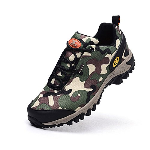 Xiang Guan Herren Camo Wasserdicht Atmungsaktiv Outdoorschuhe Sport Trekking Trail Walking Camping Wandern Schuhe Camo Armeegrün