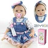 Fait à la Main 22inch 55CM Poupée Reborn Bébé Fille Réaliste Baby Silicone...