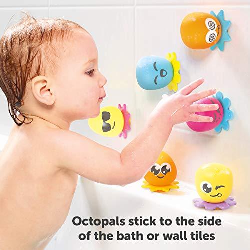 """TOMY Wasserspiel für Kinder """"Okto Plantschis"""" mehrfarbig – hochwertiges Kleinkindspielzeug – Spielzeug für die Badewanne – ab 12 Monate - 5"""