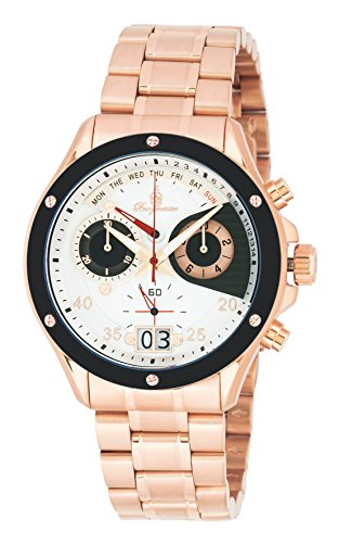 Burgmeister BM355-318 Monterry, Gents watch, Analogue display, Chronograph with Ronda Movement - Water resistant, Stylish leather strap, Classic men's watch