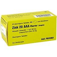 Zink 20 Aaa Pharma Dragees 50 stk preisvergleich bei billige-tabletten.eu
